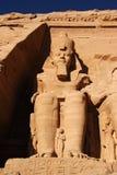 Het statuut van Simbel van Abu, Egypte, Afrika Stock Foto's