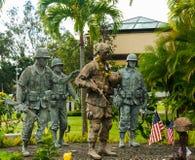 het 25ste Gedenkteken van de Infanterieafdeling, Oahu, Hawaï Stock Foto's