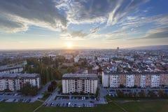 Het stedelijke gebied van Zagreb Stock Afbeelding