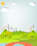 Het stedelijke landschap Stock Foto