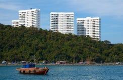 Het stedelijke landschap van de zeekust. Royalty-vrije Stock Afbeelding