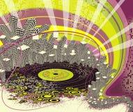 Het stedelijke leven van de disconacht. Stock Foto