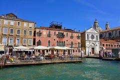 Het stedelijke leven van Venetië Stock Foto's