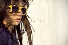 Het stedelijke meisje van Hipster Royalty-vrije Stock Foto