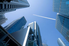 Het stedelijke Milieu van de Wolkenkrabber Stock Foto