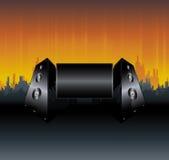 Het stedelijke ontwerp van het sprekersaanplakbord Stock Fotografie