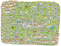 Het stedelijke Spel van het Labyrint van het Landschap Royalty-vrije Stock Foto's