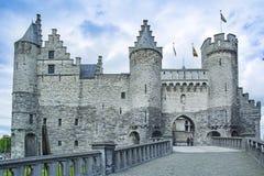 Het Steen, Anvers, Belgique Photo stock