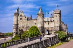 Het Steen Castle in Antwerpen Lizenzfreie Stockfotos