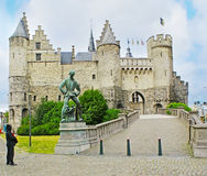 The Het Steen Castle Royalty Free Stock Photography