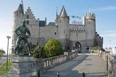 Het Steen kasteel in Antwerpen, België Royalty-vrije Stock Afbeelding