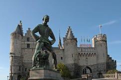 Het Steen kasteel in Antwerpen, België Royalty-vrije Stock Afbeeldingen