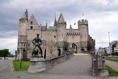 Het Steen kasztel, Antwerp, Belgia Fotografia Royalty Free