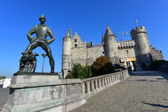 Het Steen, a medieval fortress in the old city centre of Antwerp Royalty Free Stock Image