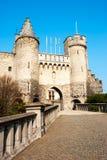 Het Steen, middeleeuwse vesting in Antwerpen, België Stock Foto's
