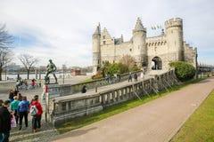 Het Steen, the oldest building in Antwerp, Belgium Stock Images