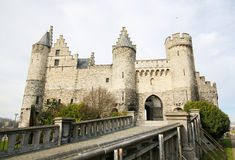 Het Steen, the oldest building in Antwerp, Belgium Stock Images