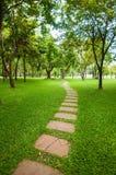 Het steenblok met groen gras Royalty-vrije Stock Foto