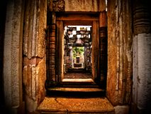 Het steenkasteel Sdok Kok Thom Stock Fotografie