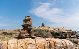 Het steenmonument Stock Foto