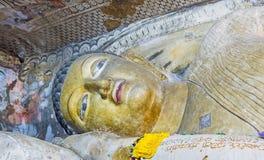 Het steenstandbeeld van Lord Buddha Stock Afbeelding