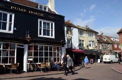 Het Stegendistrict, Brighton, het UK stock fotografie
