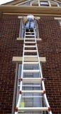 Het steile Werk van de Ladder Royalty-vrije Stock Afbeeldingen