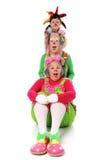 Het Stellen van clowns stock fotografie