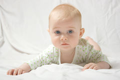 Het stellen van de baby Royalty-vrije Stock Fotografie