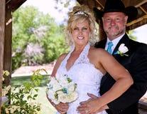 Het Stellen van de bruid en van de Bruidegom stock afbeeldingen