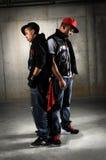 Het Stellen van de Dansers van Hip Hop Stock Afbeelding