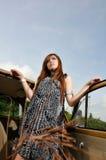 Het stellen van het meisje Royalty-vrije Stock Fotografie