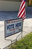 Het Stemlokaal van de kiezer stock foto