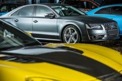 Het stemmen van Gray Audi S8 Royalty-vrije Stock Afbeeldingen