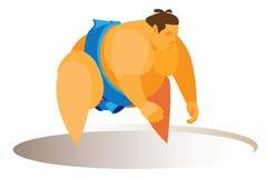 Het sterke en grote mannetje is sumoworstelaar Stock Afbeelding