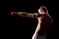 Het sterke vechter in dozen doen Stock Foto