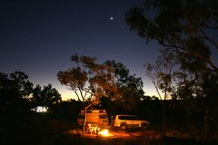 Het sterrige Kamperen, Australië Royalty-vrije Stock Fotografie