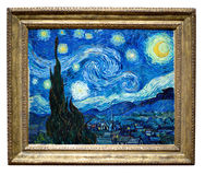 Het sterrige Schilderen van de Nacht door Vincent Stock Foto
