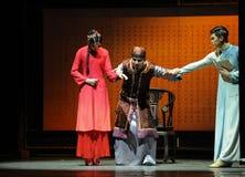 Het sterven de toe:vertrouwen-prelude van de gebeurtenissen van dans drama-Shawan van het verleden Stock Foto