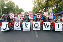 Het steunen Jokowi Stock Foto's