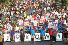 Het steunen Jokowi Royalty-vrije Stock Afbeeldingen