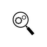 Het stevige pictogram van de onderzoekoptimalisering vector illustratie