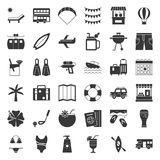 Het stevige pictogram van de de zomervakantie stock illustratie