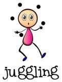 Het stickman jongleren met Stock Afbeeldingen