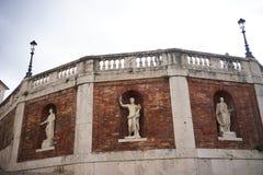 Het stijgen van paardvierkant in Rome royalty-vrije stock foto's