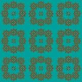Het stikken van naadloos patroon met bloemenelementen in donkere kleuren vector illustratie