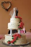 Het stilleven van de Cake van het huwelijk Royalty-vrije Stock Afbeeldingen