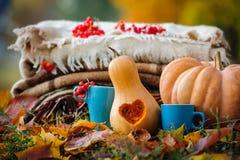 Het stilleven van de de herfstdankzegging Stock Foto's