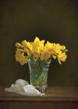 Het stilleven van de gele narcis stock foto