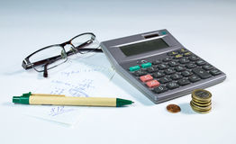Het stilleven van de huisbegroting Stock Afbeeldingen